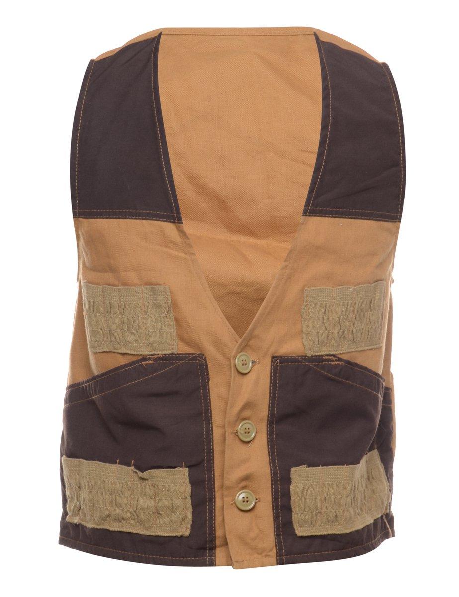 1980s Sleeveless Workwear Waistcoat - S