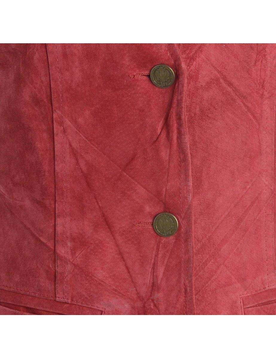 1980s Leather Waistcoat - S
