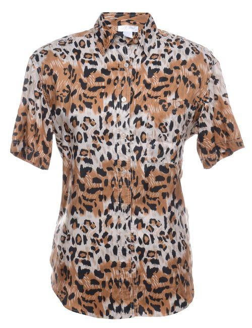 Beyond Retro 1990s Animal Print Silk Shirt - M