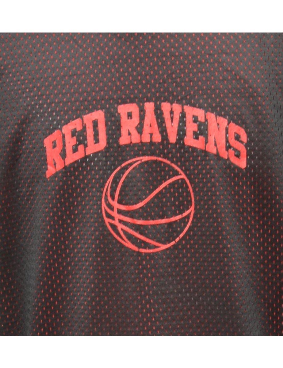 Beyond Retro 1990s Mesh Coffeyville Red Ravens Vest - L