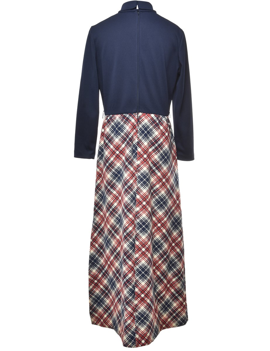 Beyond Retro 1970s Checked Dress - M