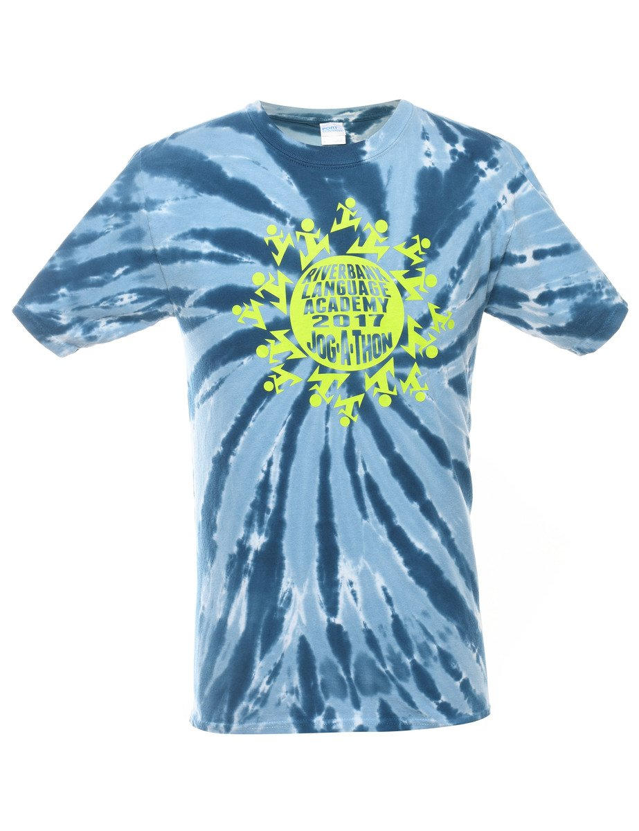 2000s Tie Dyed Jog-A-Thon Printed T-shirt - S