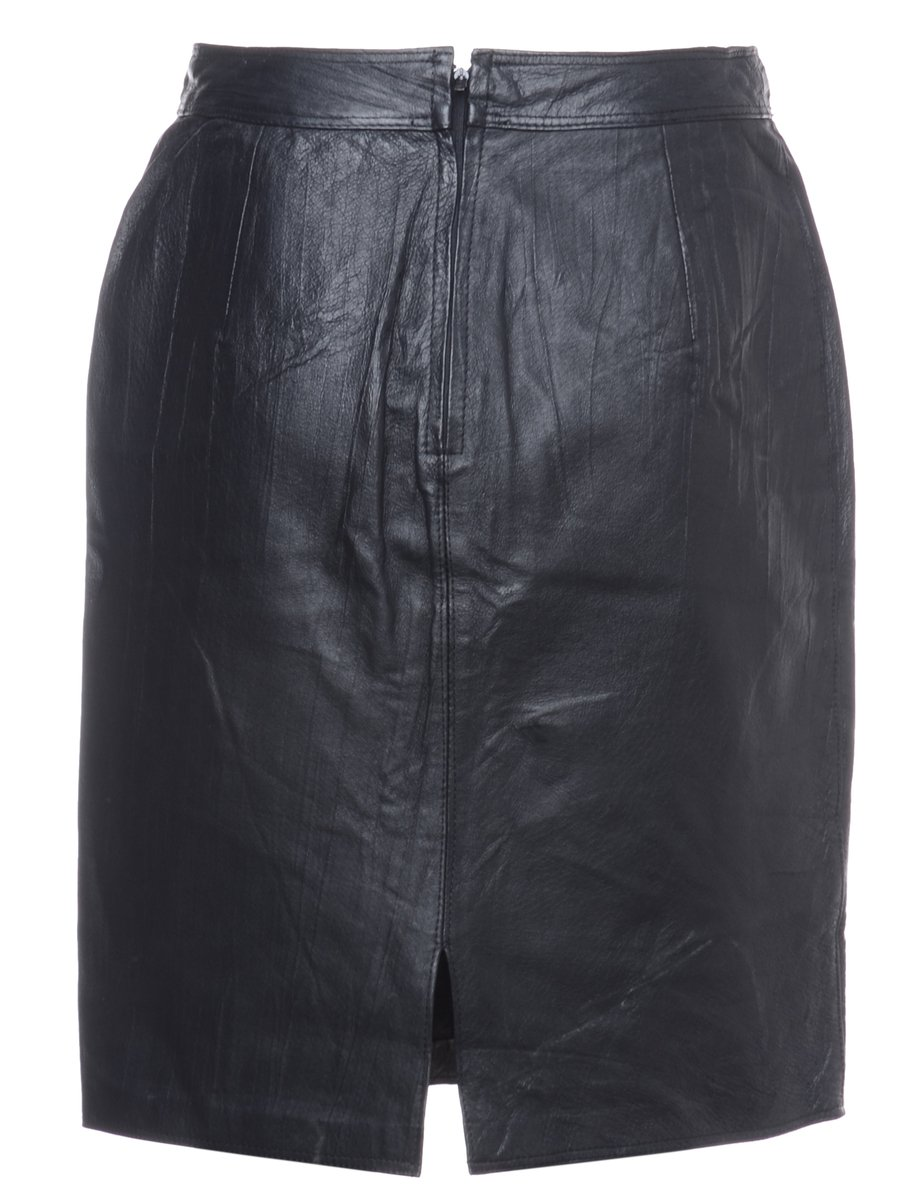 1990s Leather Skirt - M