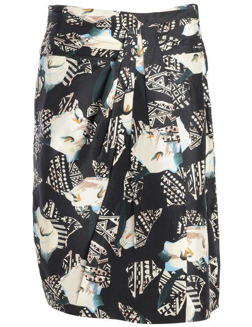 Beyond Retro 1990s Patterned Pencil Skirt - M