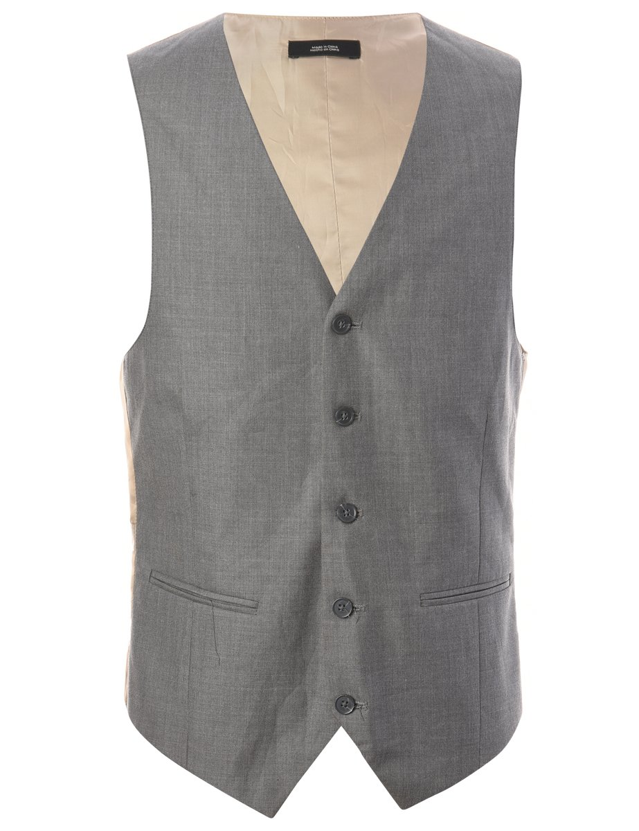 1980s Button Front Waistcoat - S