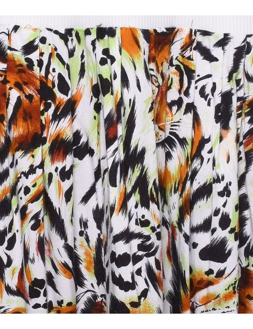 Beyond Retro 2000s Animal Print Pleated Skirt - M