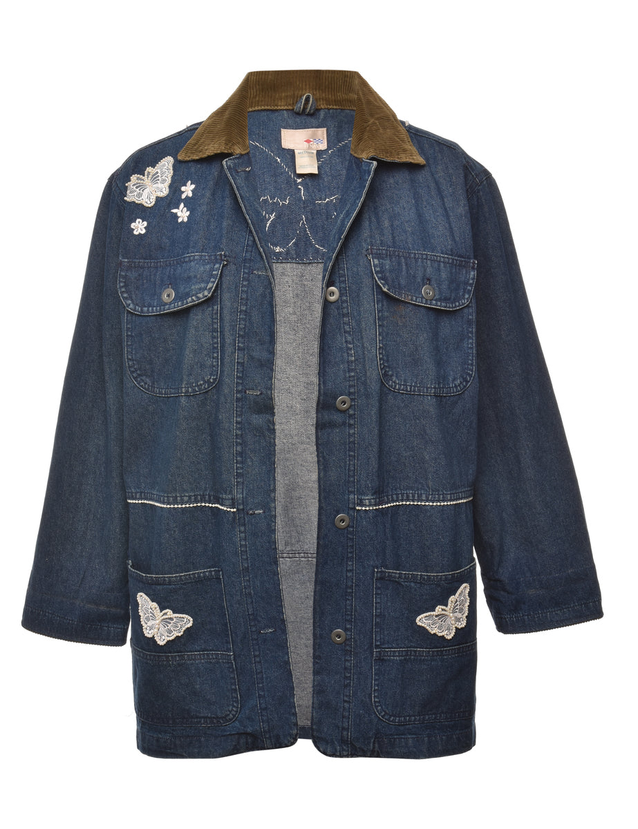 1990s Customised Denim Jacket - M