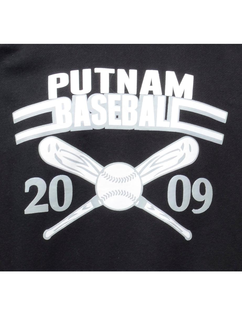 Beyond Retro 2000s Putnam Baseball Printed Hoodie - XL