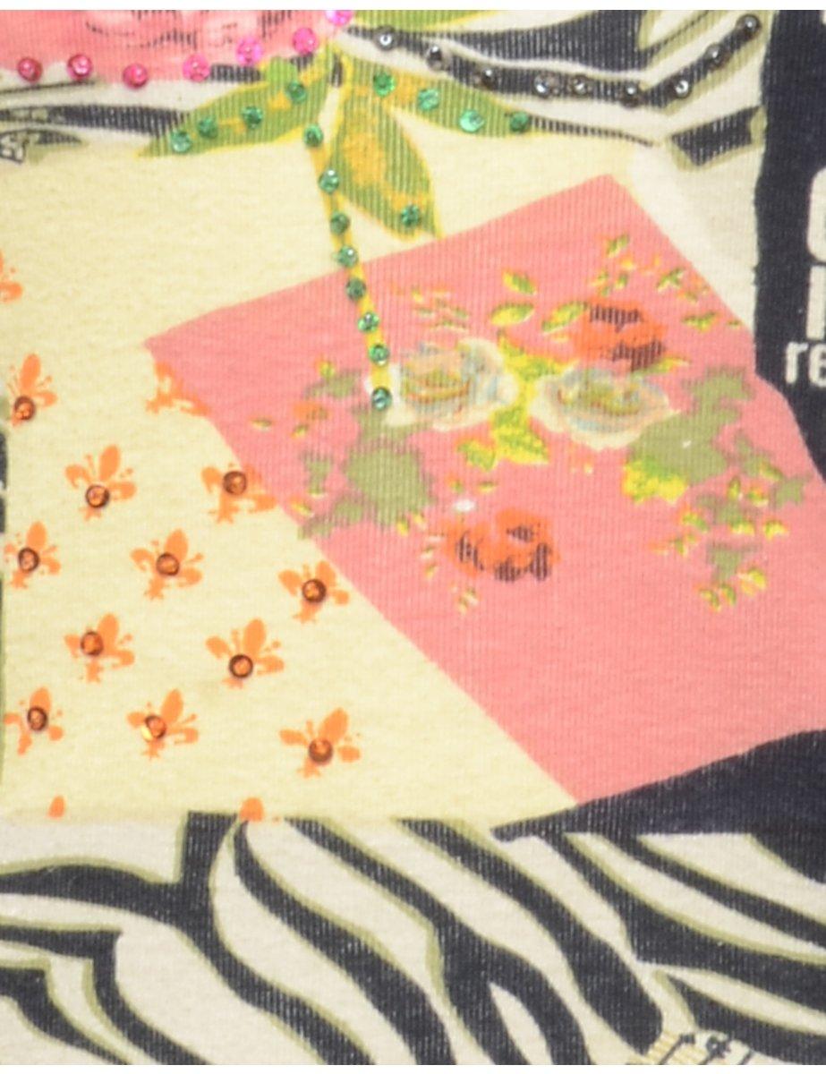 Beyond Retro 2000s Multi-Print T-shirt - M