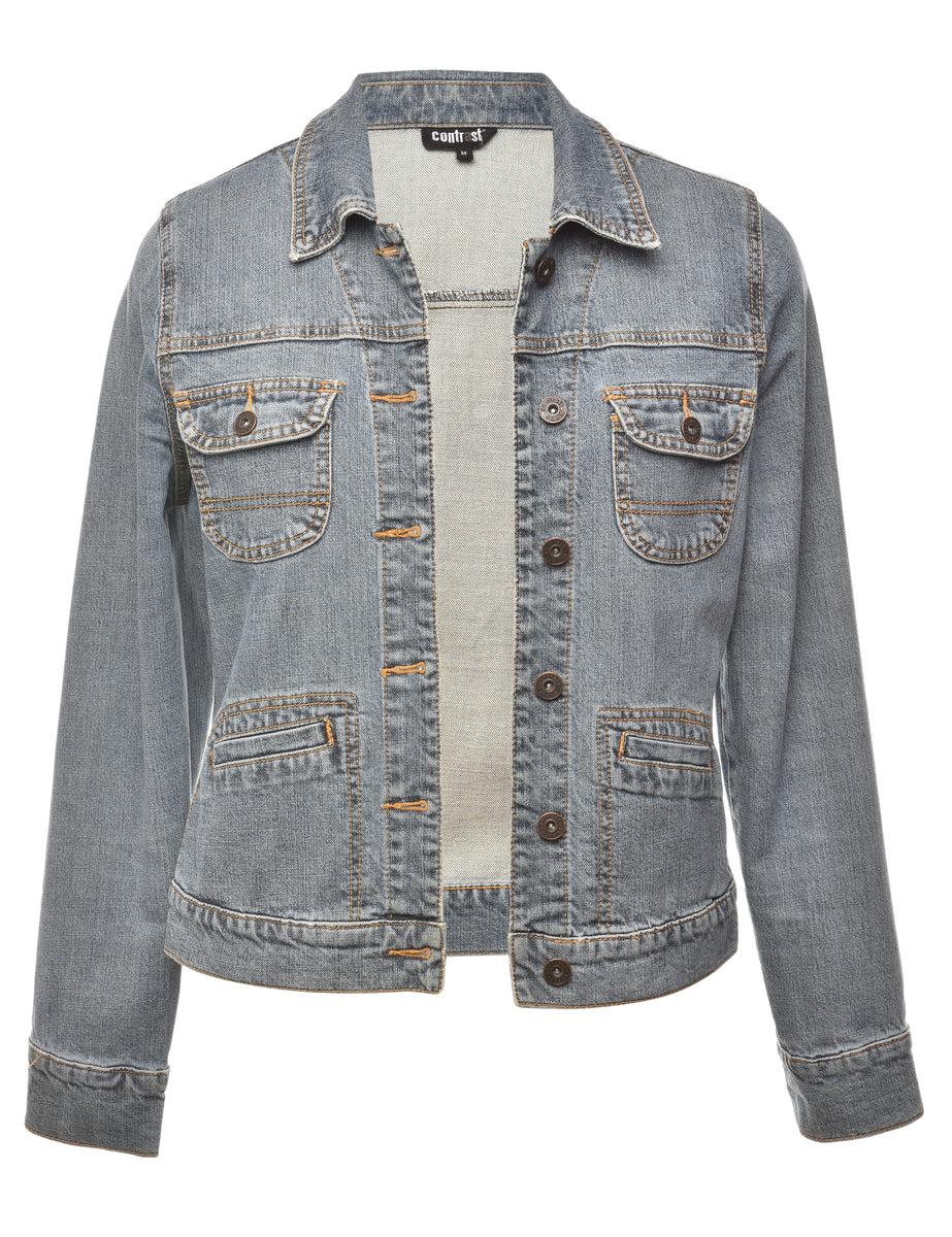 1990s Medium Wash Denim Jacket - M