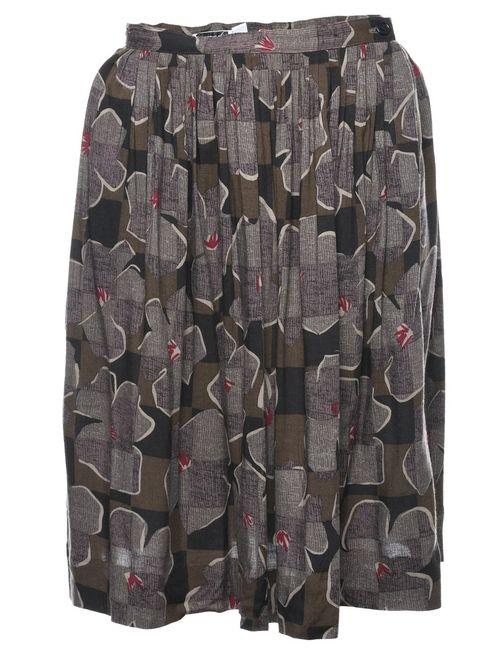 2000s Floral Midi Skirt - S