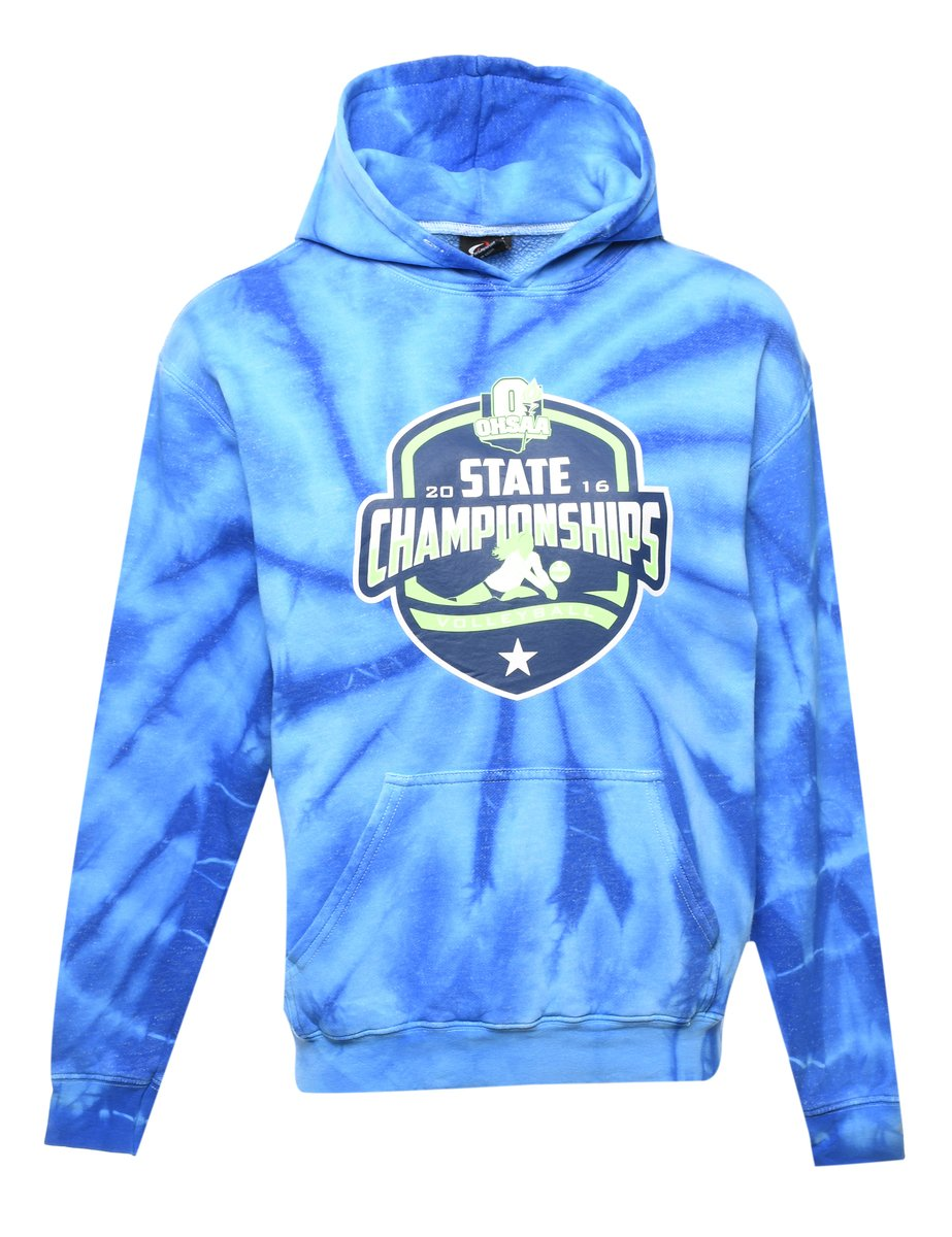 2000s Tie-dye OHSAA State Championships Volleyball Printed Hoodie - S