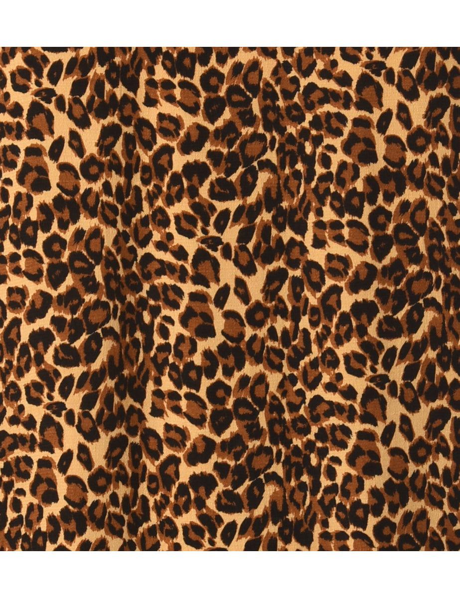 Beyond Retro 1990s Leopard Print Vest - M