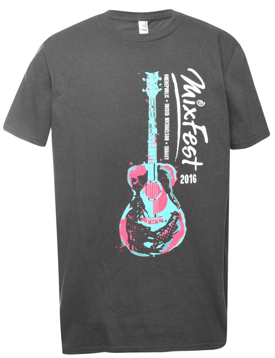 2000s Mixfest Printed T-shirt - M