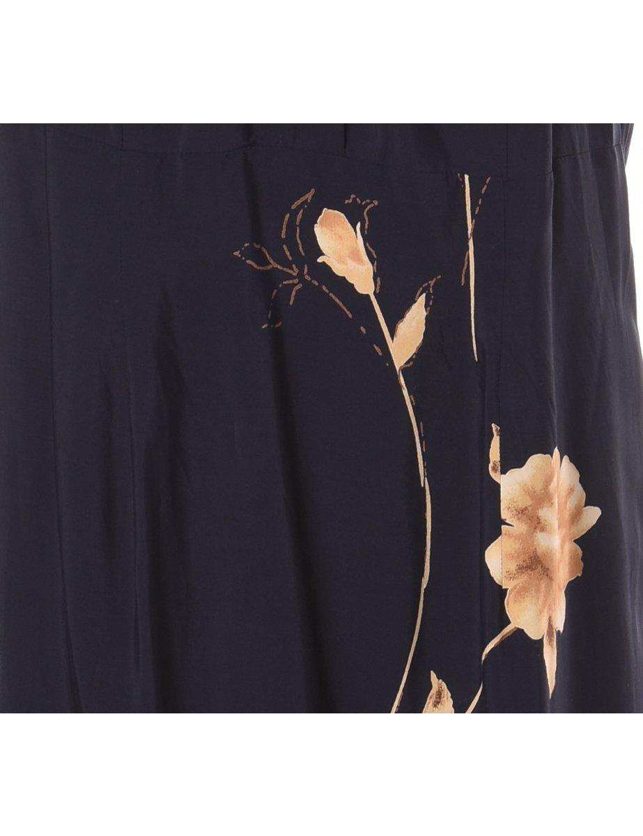 1990s Floral Pattern Shirt Dress - M