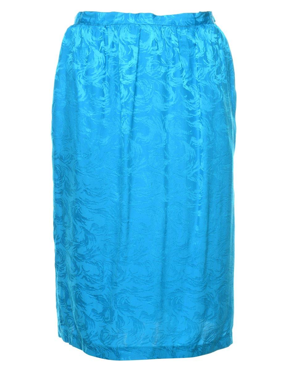 100% Silk Pencil Skirt - S