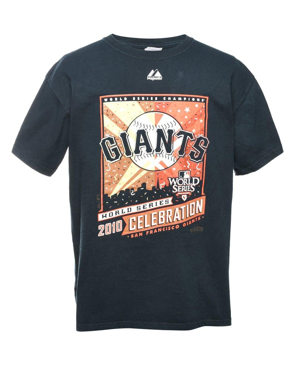 2000s Giants Printed T-shirt - M