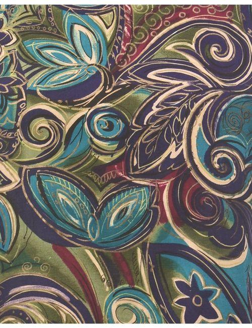 1990s Floral Printed Top - L