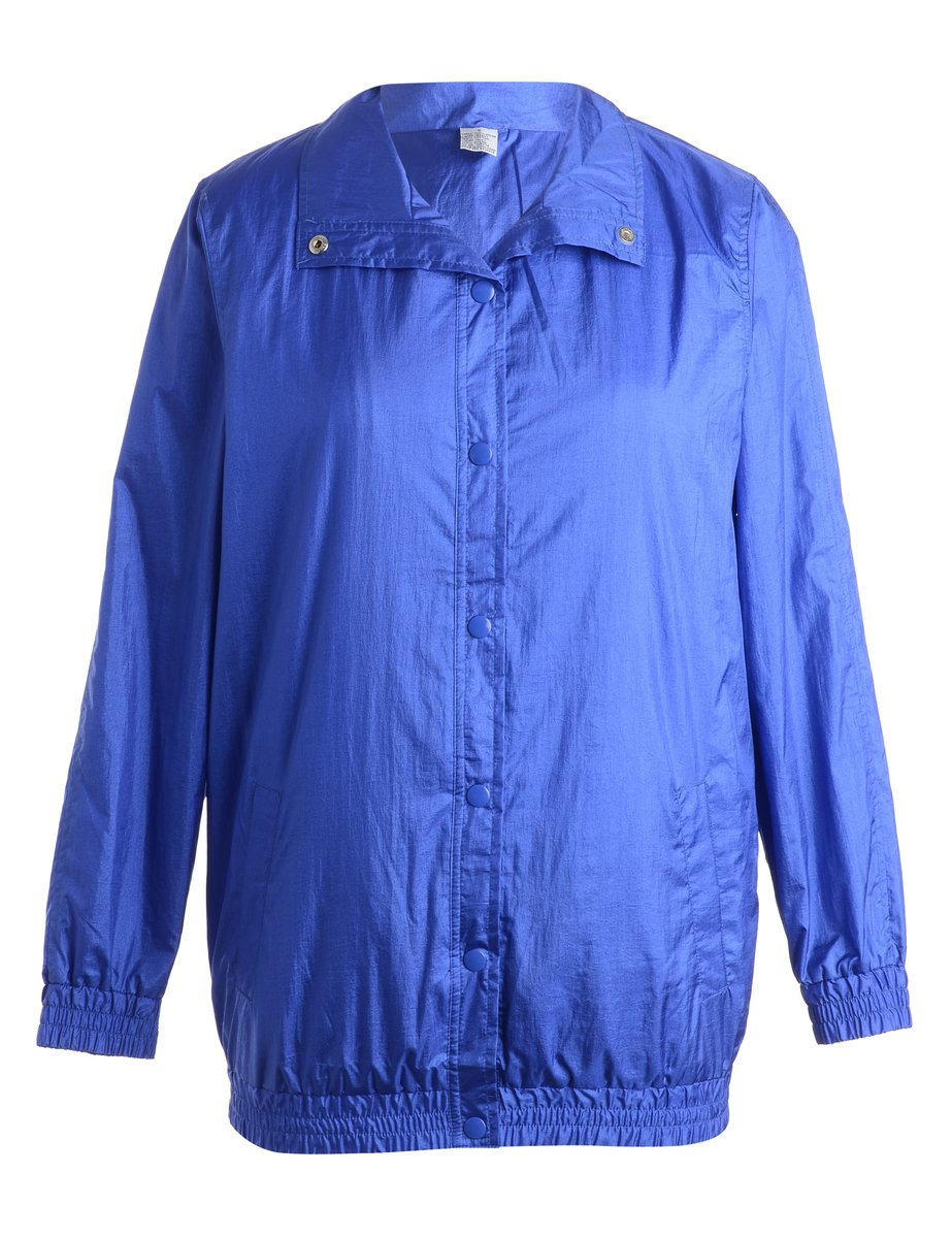 1990s Blue Nylon Jacket - S