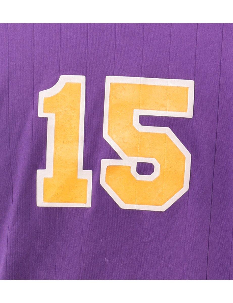 Beyond Retro 1990s Purple Sports T-shirt - L