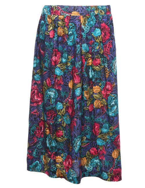 Beyond Retro 2000s Floral Pattern Skirt - M