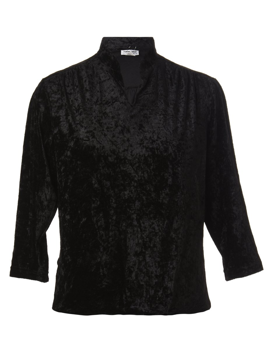 1990s Black Evening Top - M