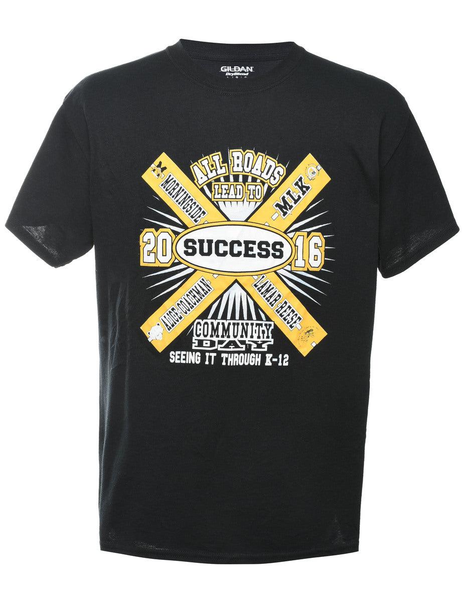 2000s Success Printed T-shirt - L