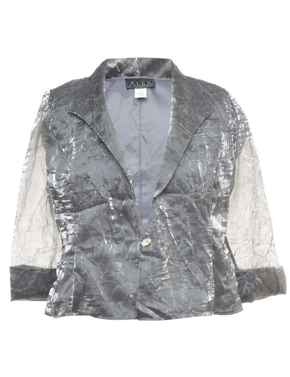 1990s Shiny Evening Jacket - S