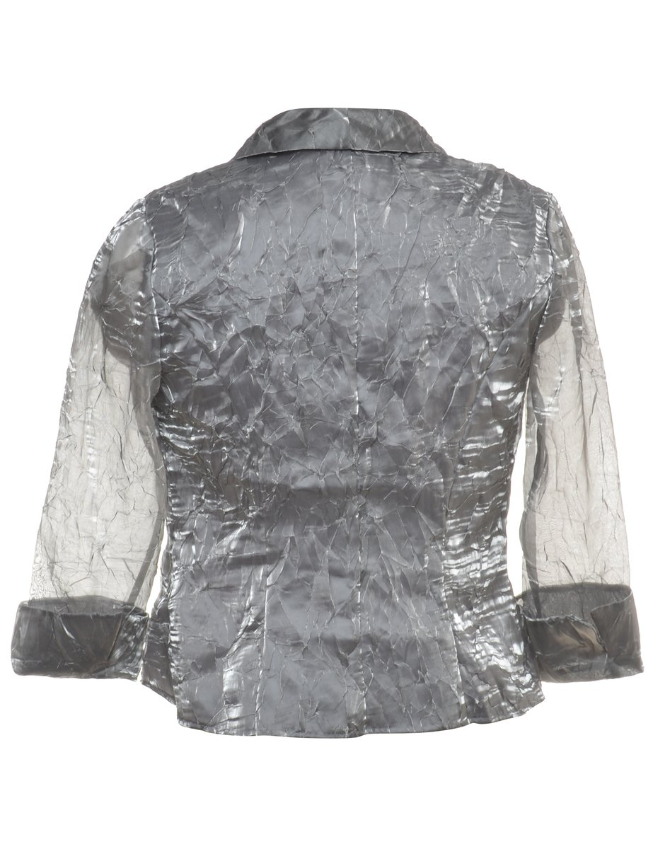 Beyond Retro 1990s Shiny Evening Jacket - S