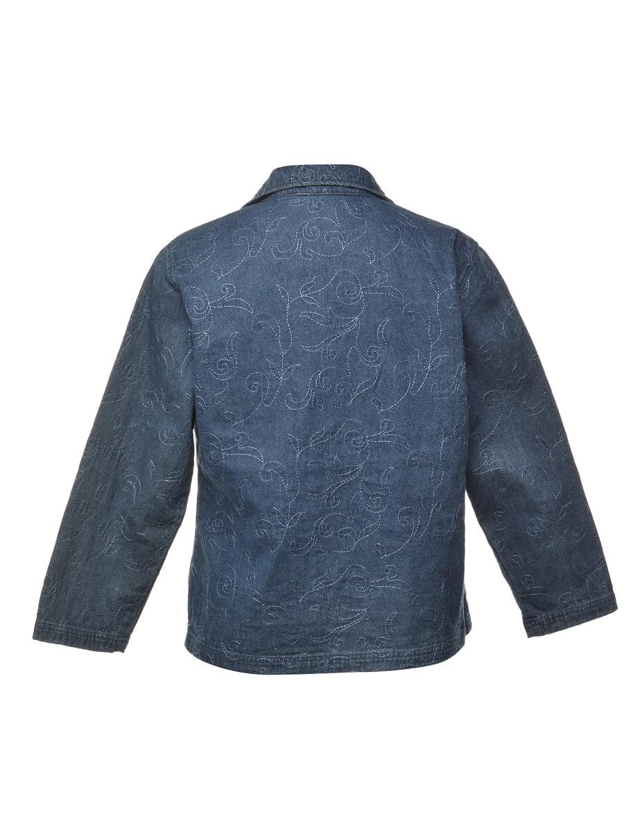 Beyond Retro 1990s Button Front Denim Jacket - M