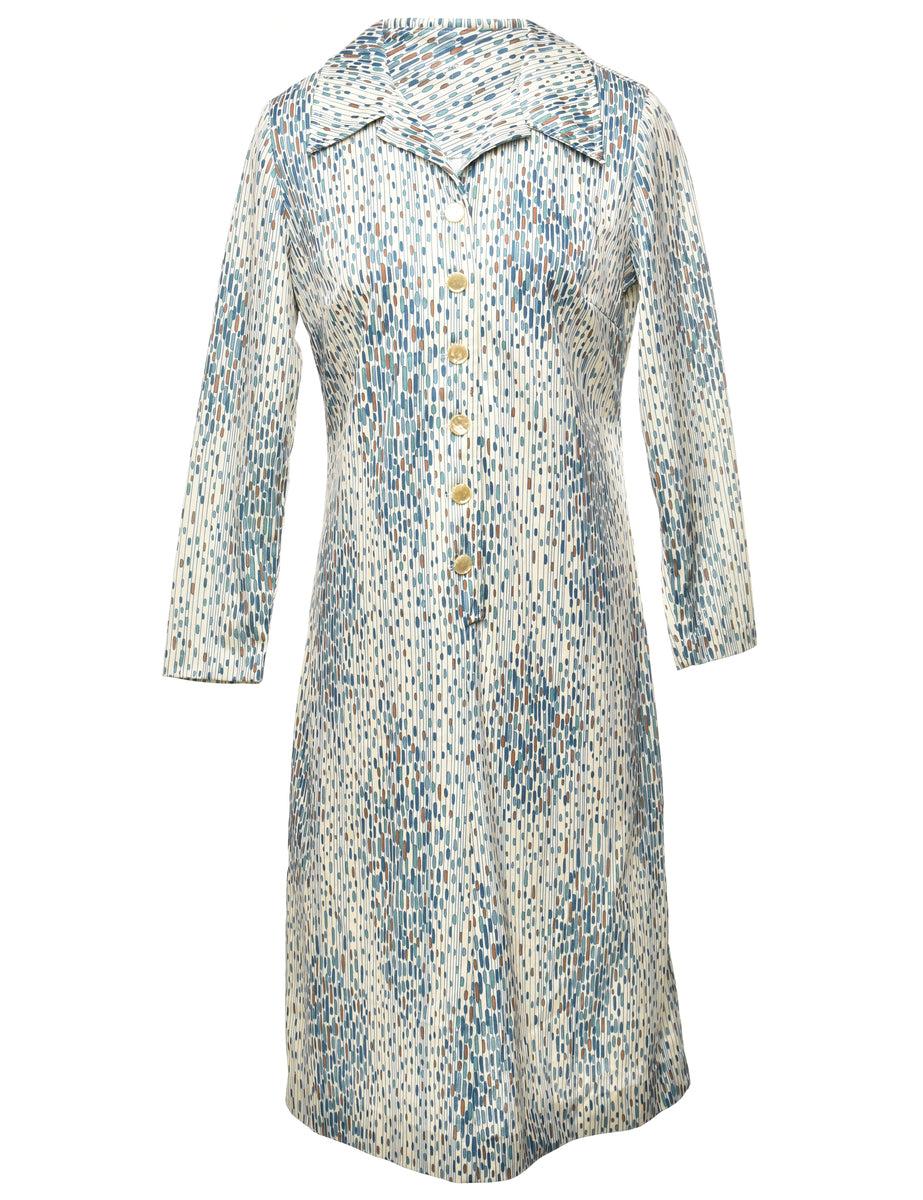 1970s Spotty Dress - M