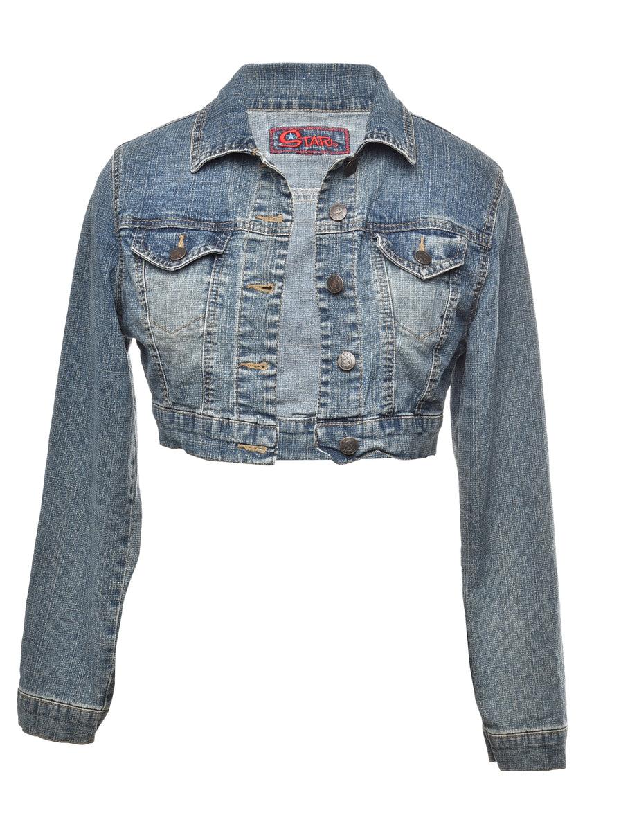 2000s Button Front Denim Jacket - S