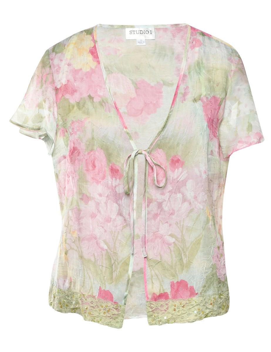 2000s Floral Jacket - L