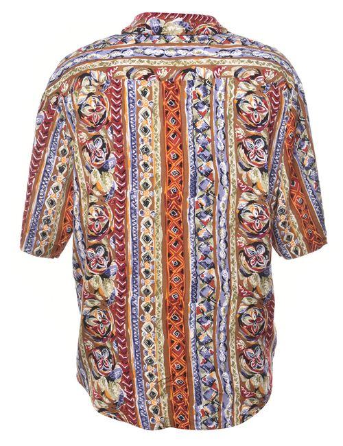 1990s Floral Shirt - XL