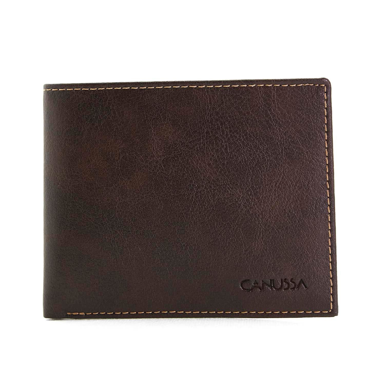 Slim Vegan Wallet - Dark Brown