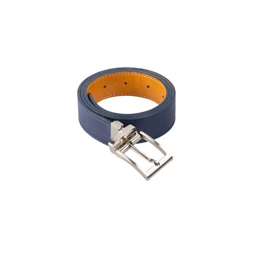 Reverse Vegan Belt - Reversible Blue/Camel