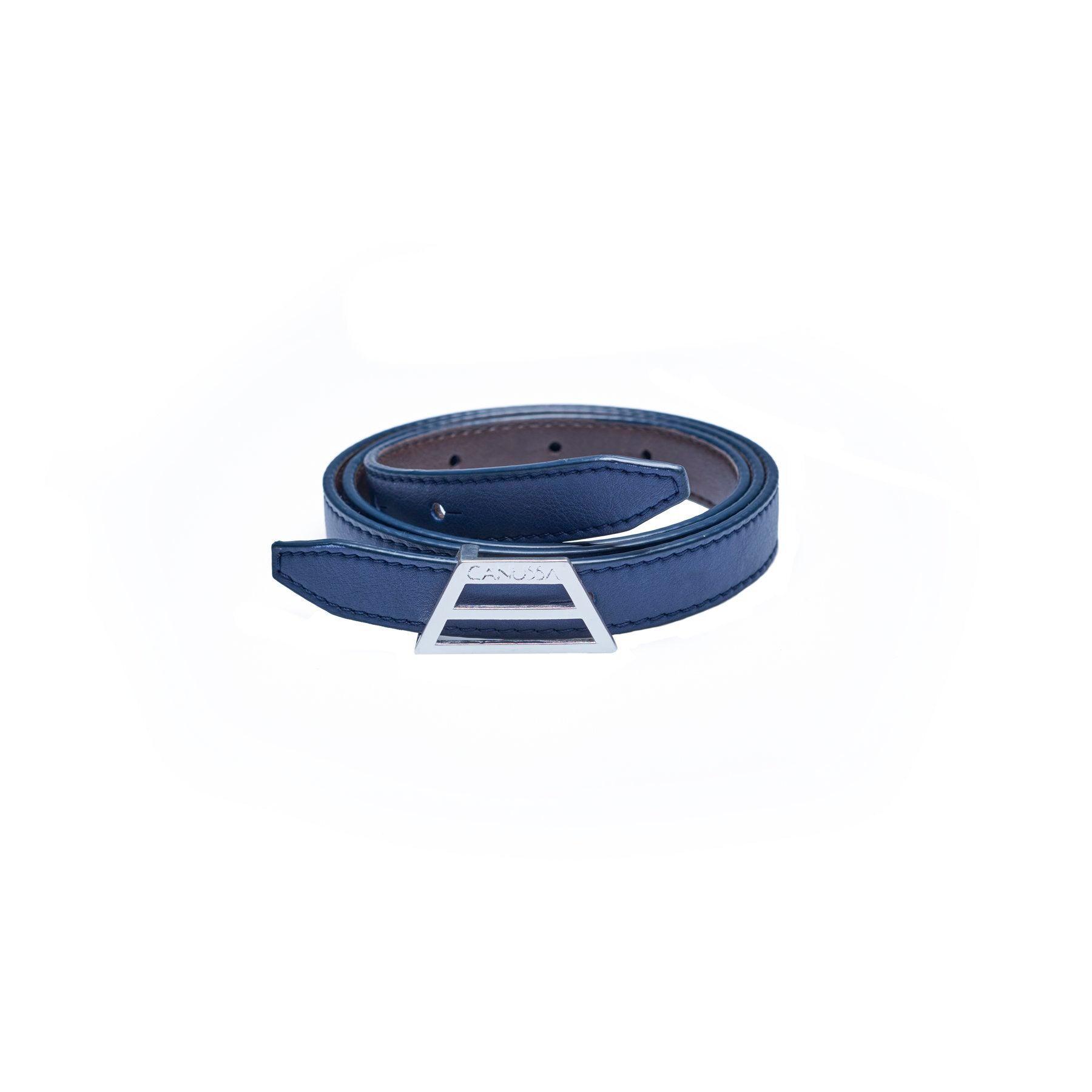 ADAPT Vegan Belt – Reversible Blue/Brown