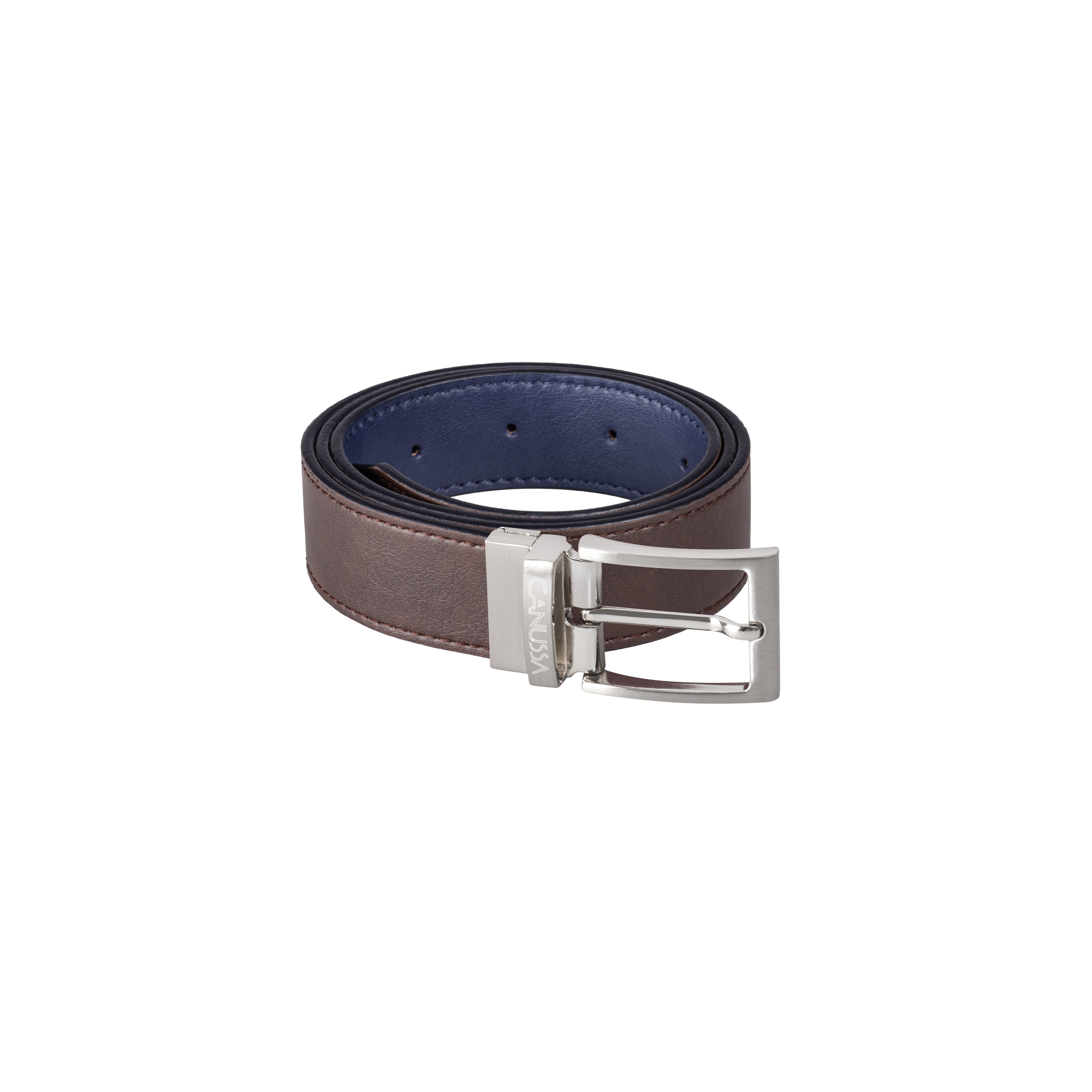 Canussa Reverse Vegan Belt – Reversible Blue/Brown
