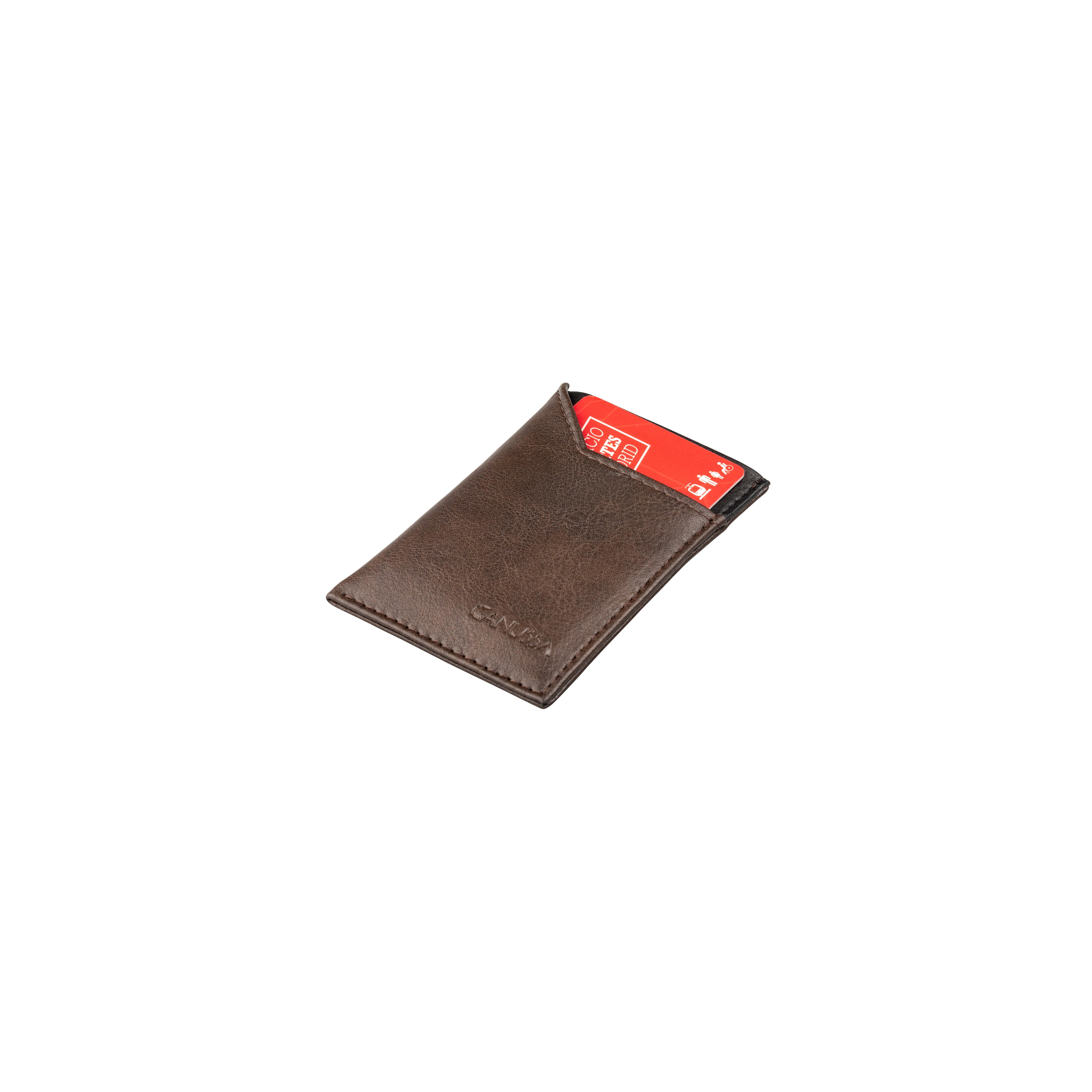 Canussa Wallet Vegan Card holder - Brown/Black