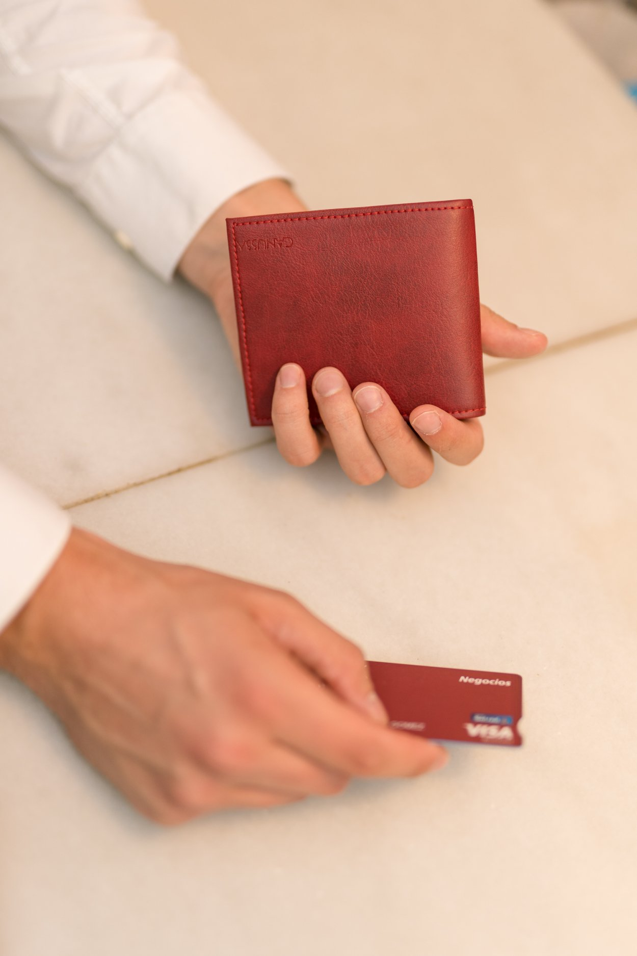 Canussa Slim Vegan Wallet - Red