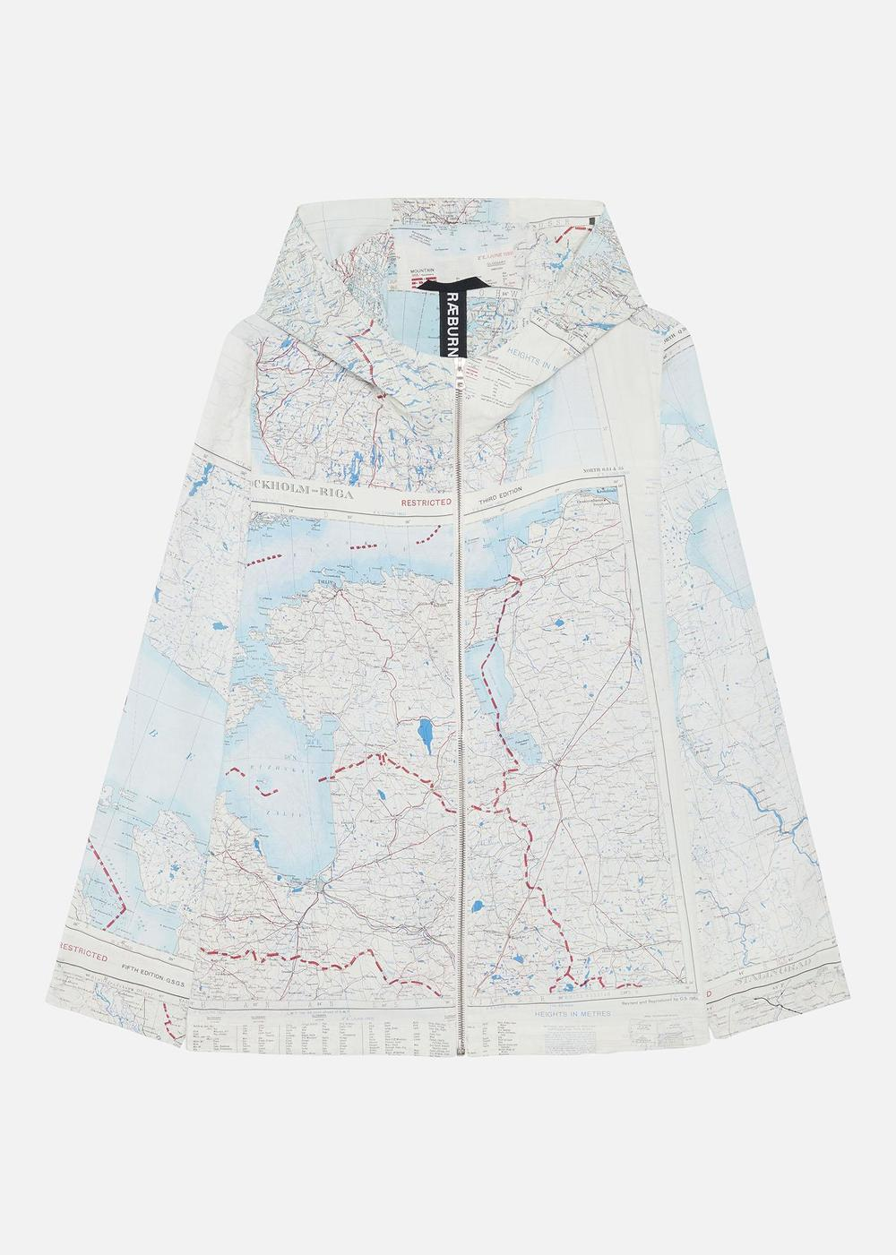 1950'S SILK MAP ANORAK