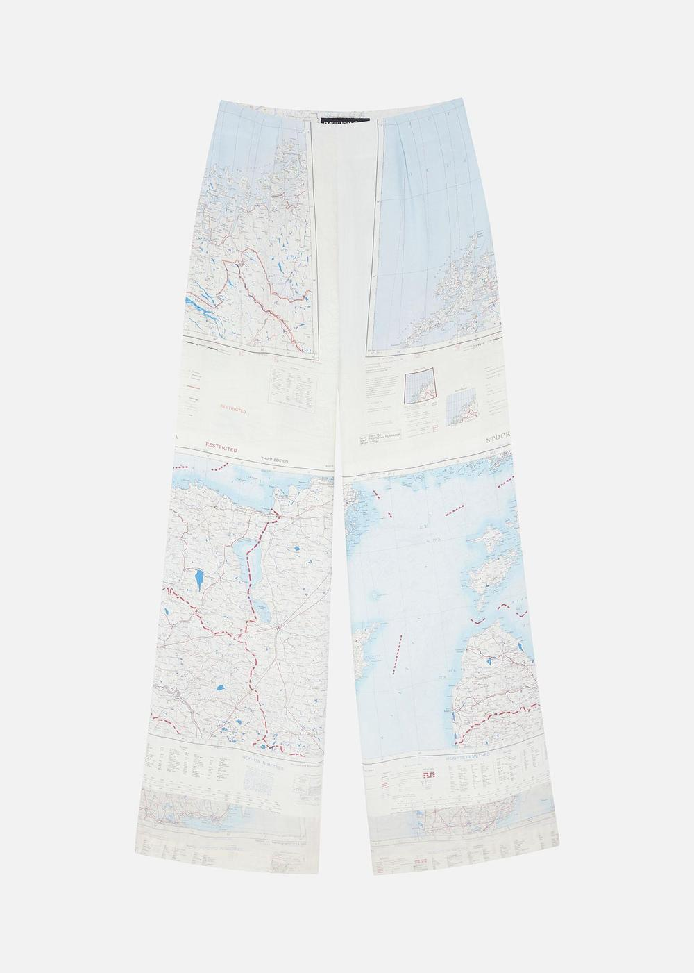 1950'S SILK MAP TROUSERS