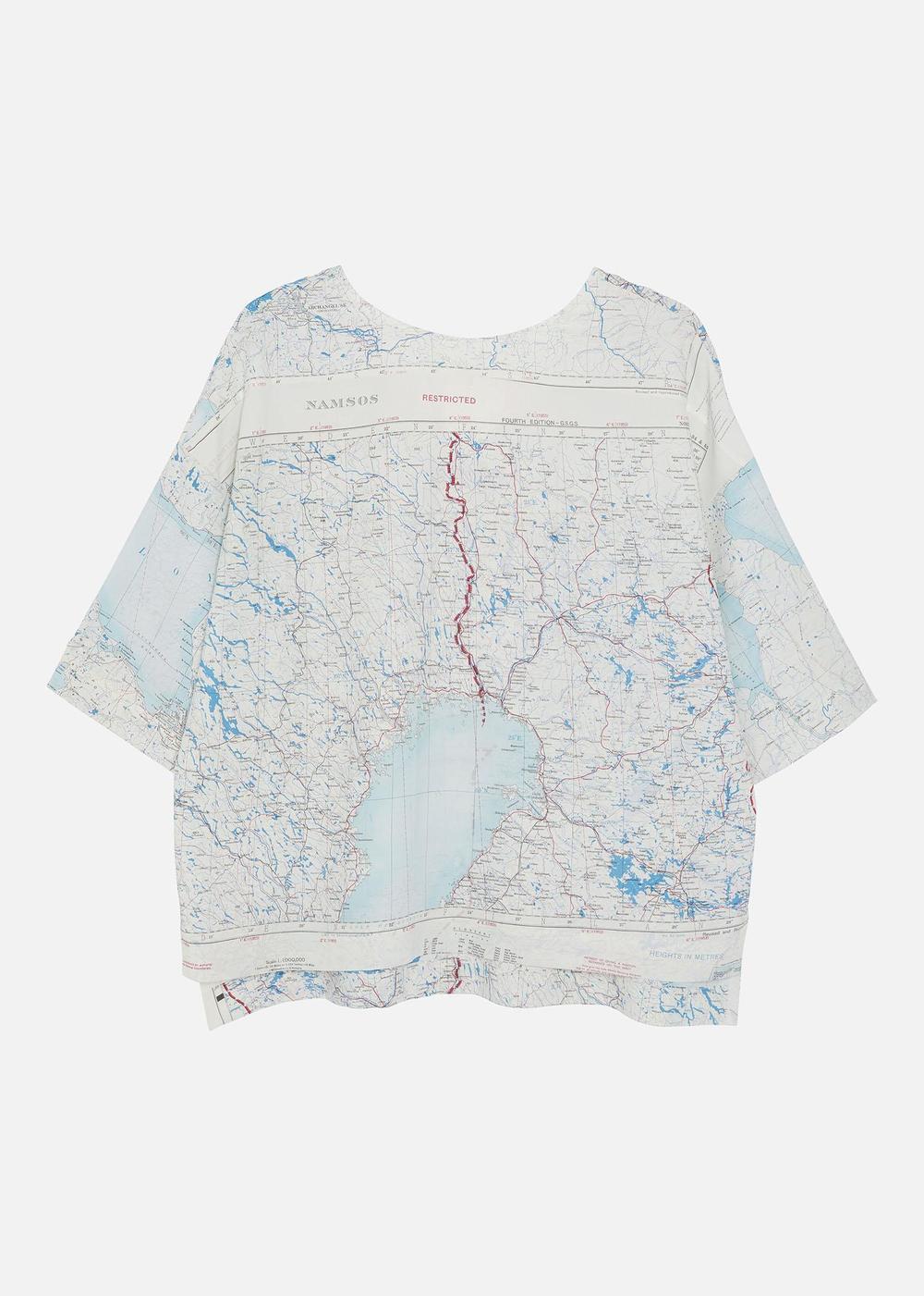1950'S SILK MAP T-SHIRT