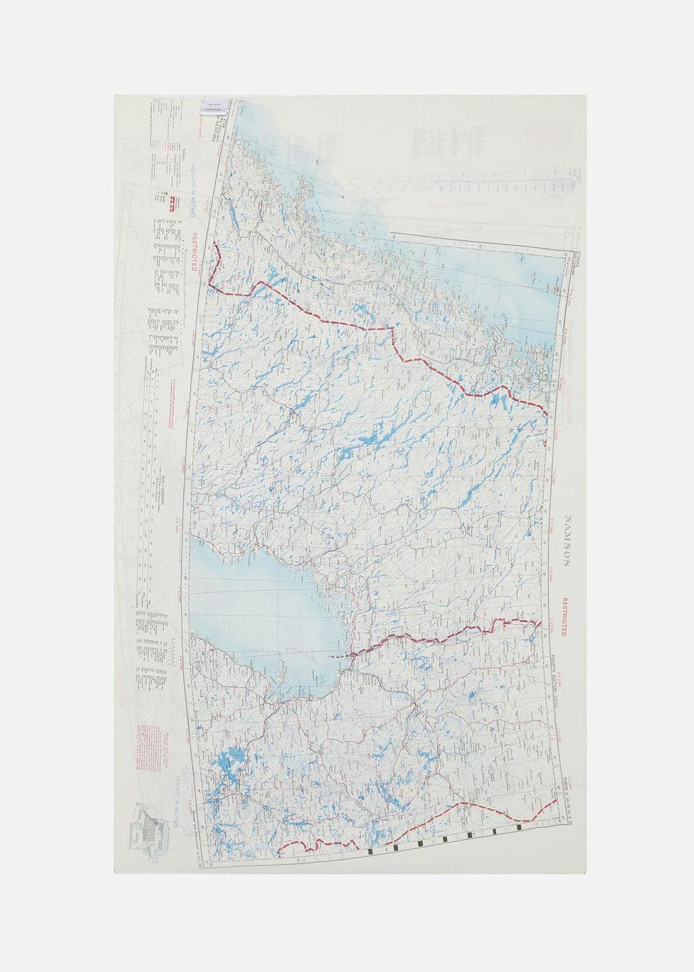 1950's Silk Map Scarf - Namsos