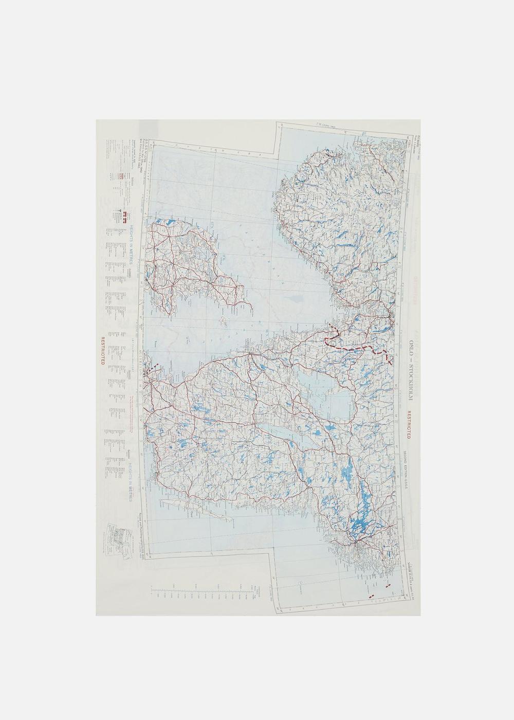 1950's Silk Map Scarf - Stockholm