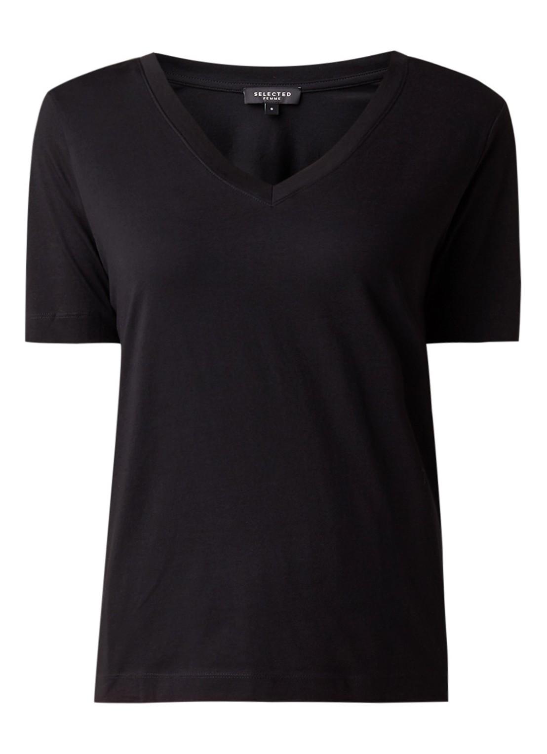Standard organic cotton T-shirt with V-neck