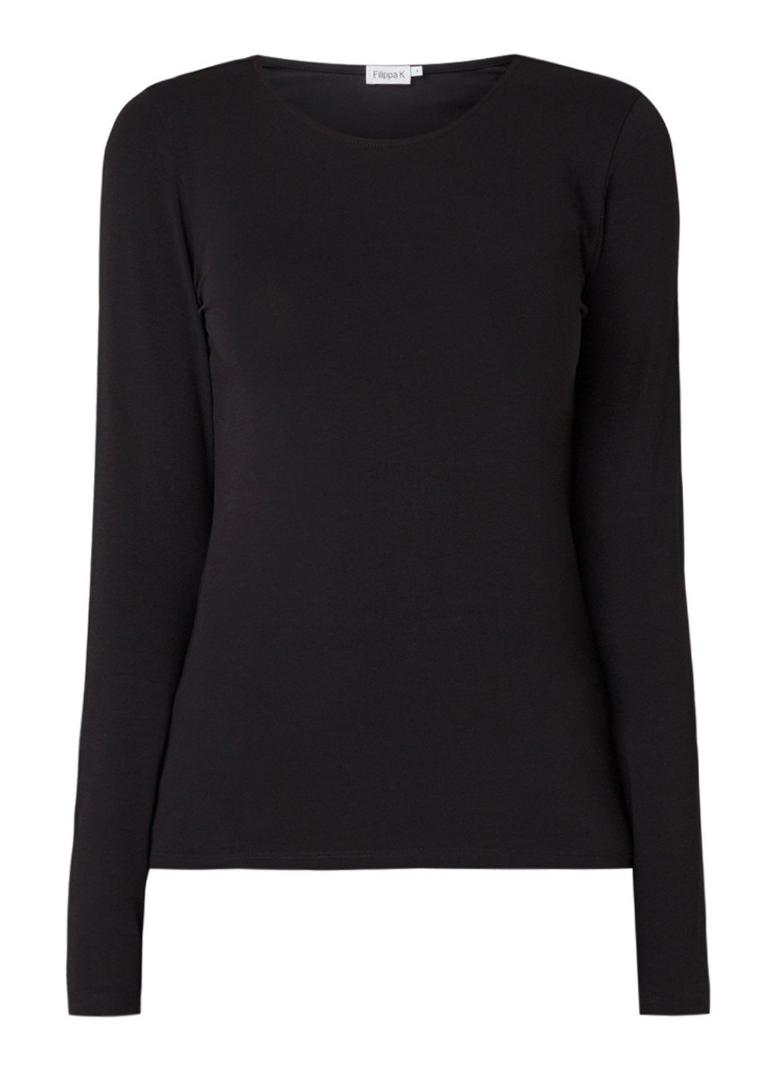 Slim fit longsleeve with round neck