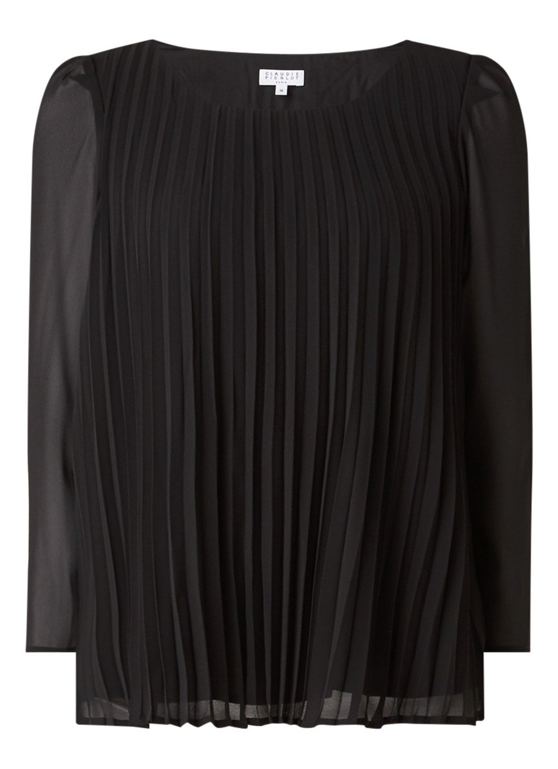 Claudie Pierlot Bancplisee tunic with three-quarter sleeves and pleated