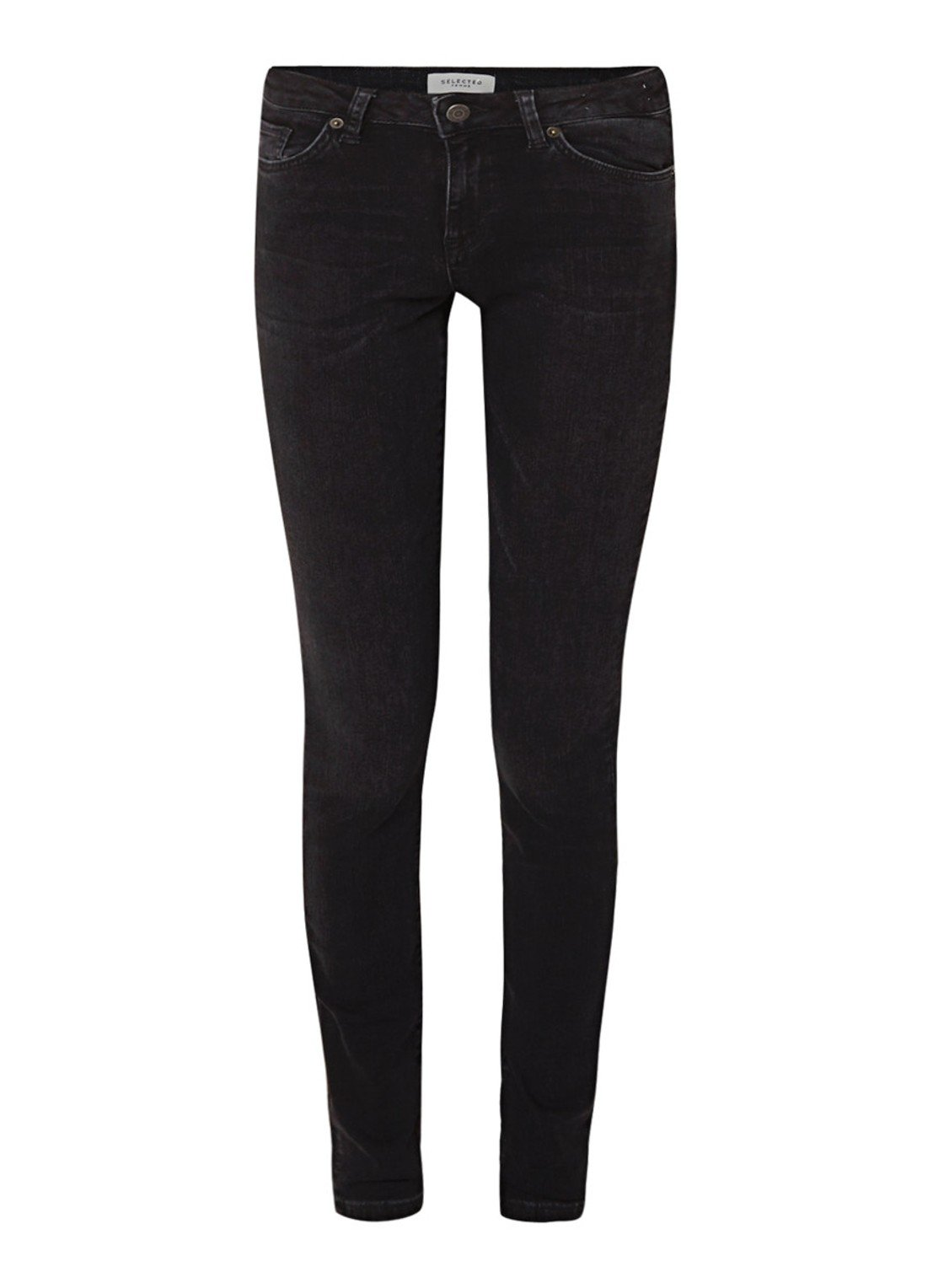Selected Femme Fida mid waist skinny fit jeans made of organic cotton