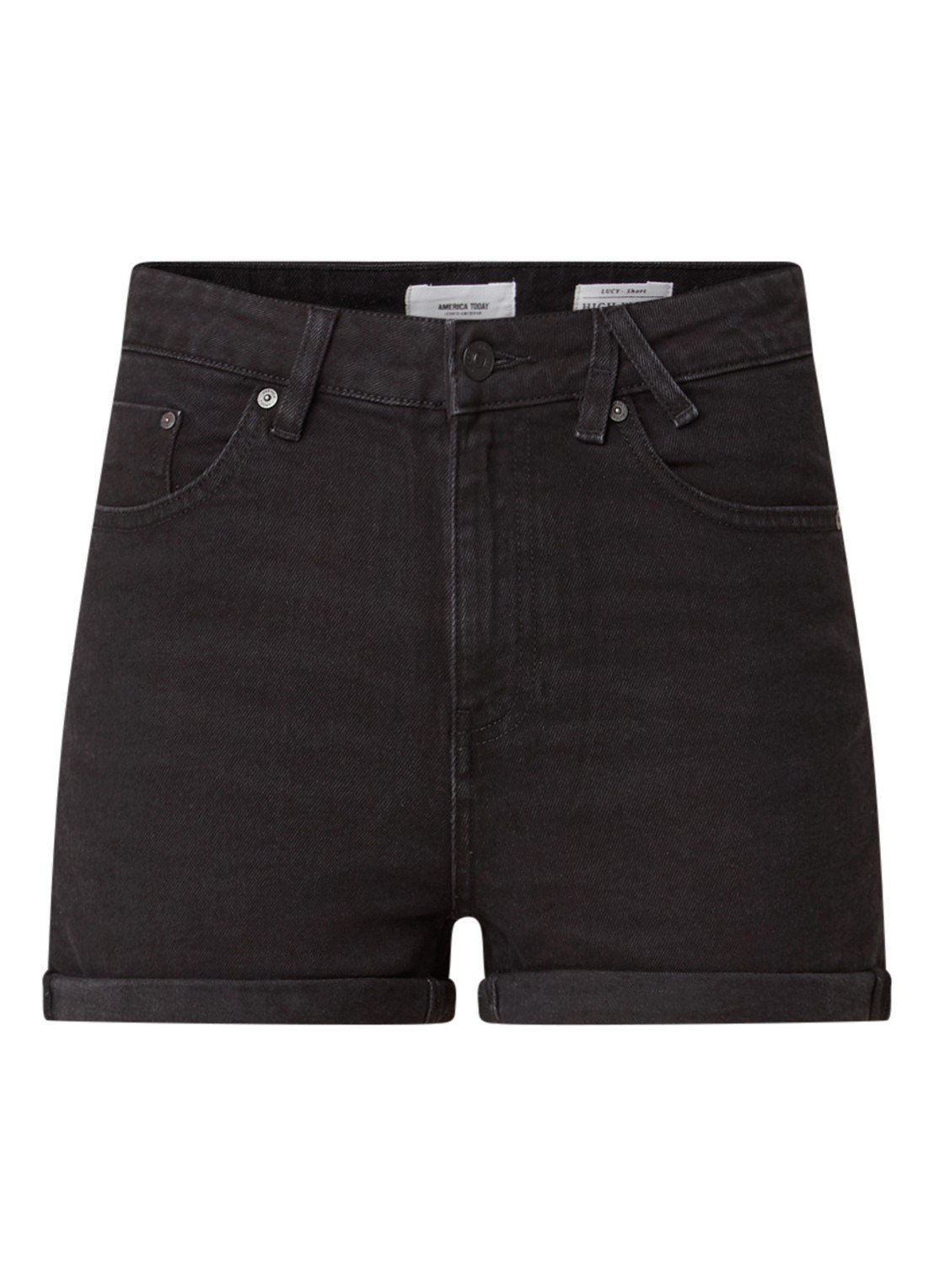 Lucy denim shorts with turned-up hems